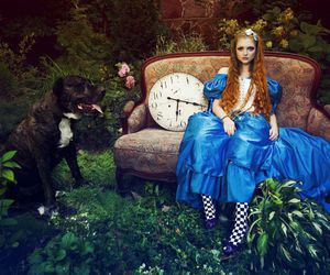 alice in wonderland, dress, and beauty image