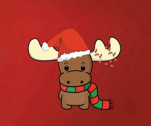 christmas, red, and reindeer image
