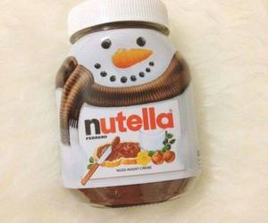 christmas, nutella, and snowman image