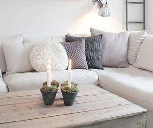 candle, interior design, and livingroom image
