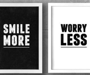 smile, worry, and black and white image