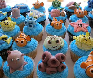 cupcake, nemo, and food image