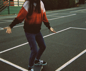 skate, vans, and hipster image