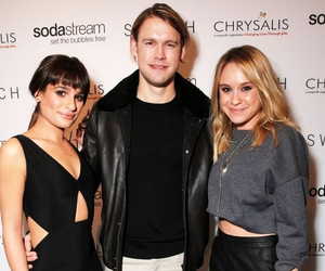 glee, lea michele, and chord overstreet image