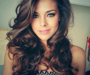 brunette, curls, and style image