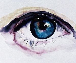 eye, art, and watercolor image