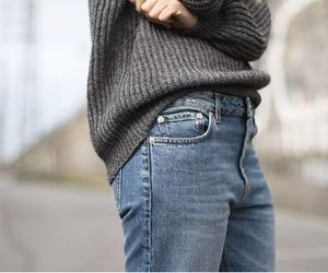 jeans, street style, and denim image