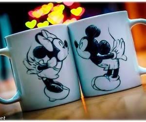 mickey, mug, and kiss image