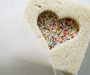 heart, food, and sandwich image