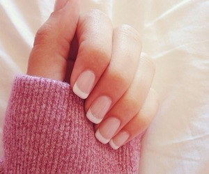 nails, pink, and french image