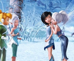 tinkerbell, disney, and snow image