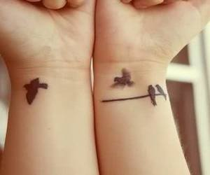 tattoo, fly, and birds image