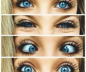 faces, blue eyes, and cute image