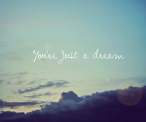 Dream, sky, and text image