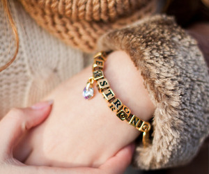 accessories, gold, and bracelet image