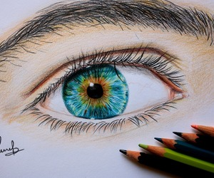 drawing, eye, and leirebeart image