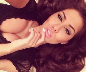 girl, beautiful, and lips image