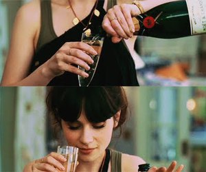 zooey deschanel and champagne image