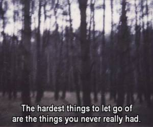 quotes, let go, and hard image