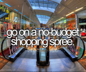 shopping, mall, and bucket list image