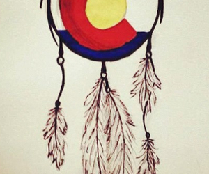 colorado, feather, and flag image