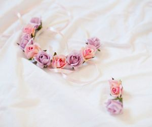floral, hair, and pink image