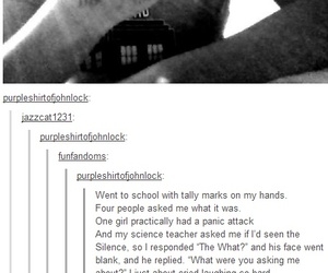 doctor who, silence, and whovians image
