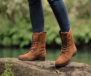 boots, brown, and cute image
