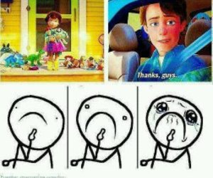 toy story, andy, and cry image