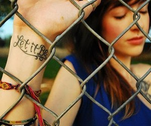 girl, let it be, and tattoo image