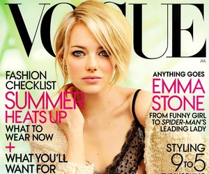 cover, vogue, and emma stone image