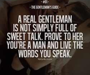 gentleman, quote, and sweet image