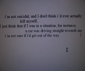 suicidal, suicide, and depressed image