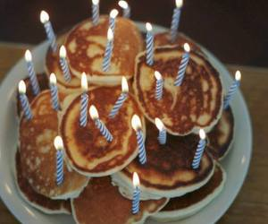 pancakes, food, and birthday image