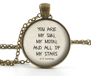 moon, pendant, and quote image