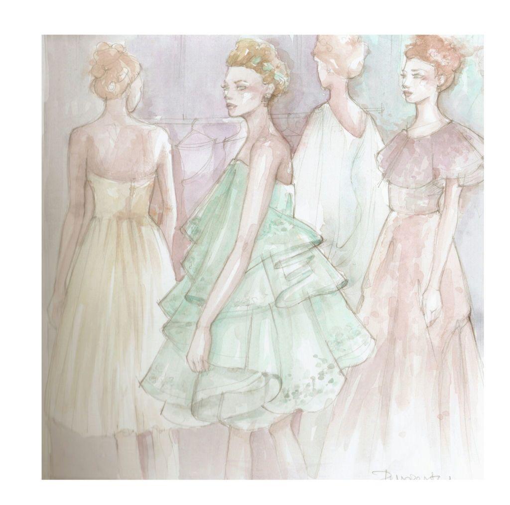 elegant, fashion illustration, and illustration image