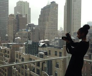 camera, girl, and new york image