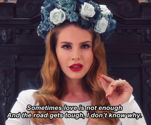 lana del rey, flowers, and quote image