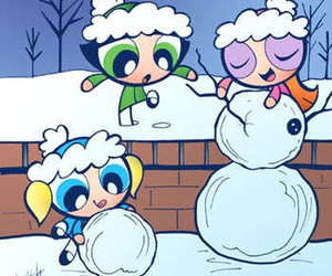kawaii, snowman, and winter image