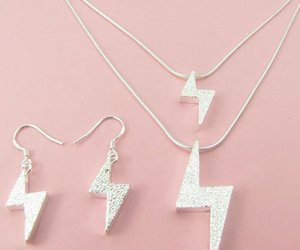 earrings, lighting, and necklace image