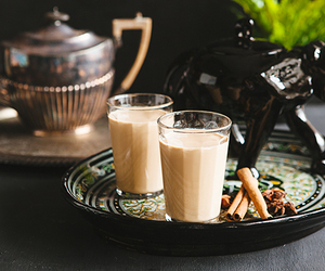 chai, drinks, and tea image