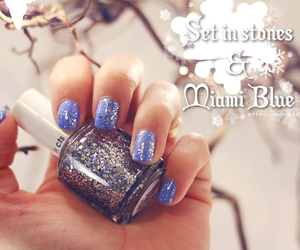 blue, nailpolish, and nails image