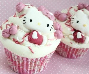 cupcake, hello kitty, and cute image