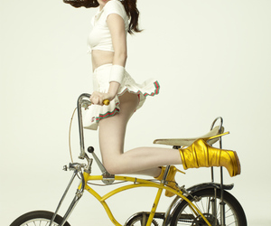 emma stone, bike, and gq image