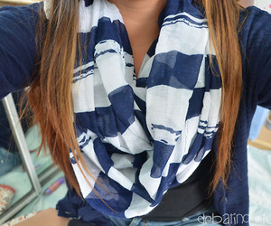 outfit, scarf, and clothing image