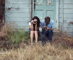boy, camera, and couple image