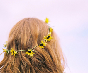 blonde, flower, and yellow image