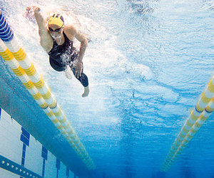 swimmer, swimming, and swimmingpool image