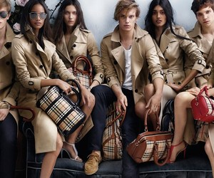 Burberry, malaika firth, and Jamie Campbell Bower image