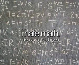 math, hate, and school image